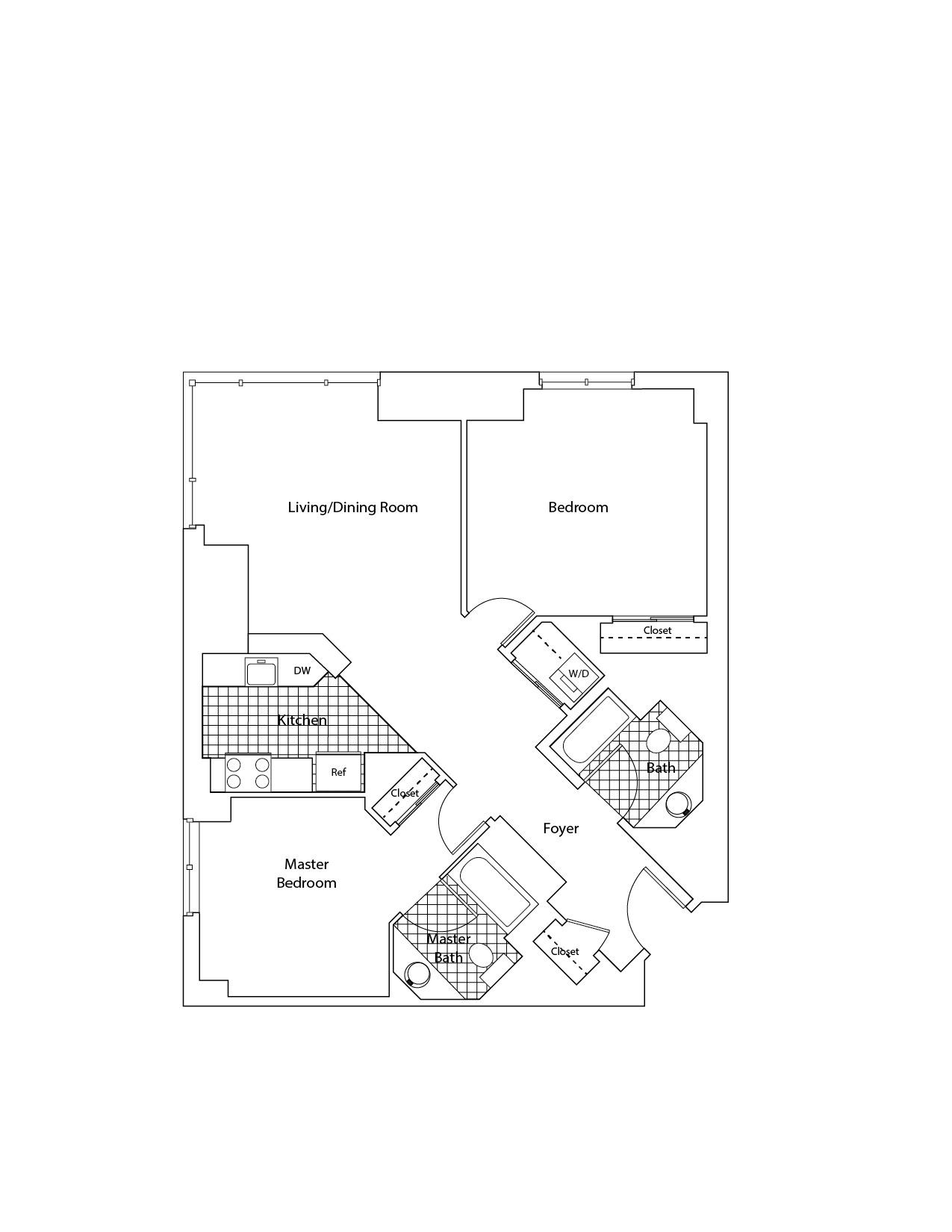floorplan image of apartment J-0227