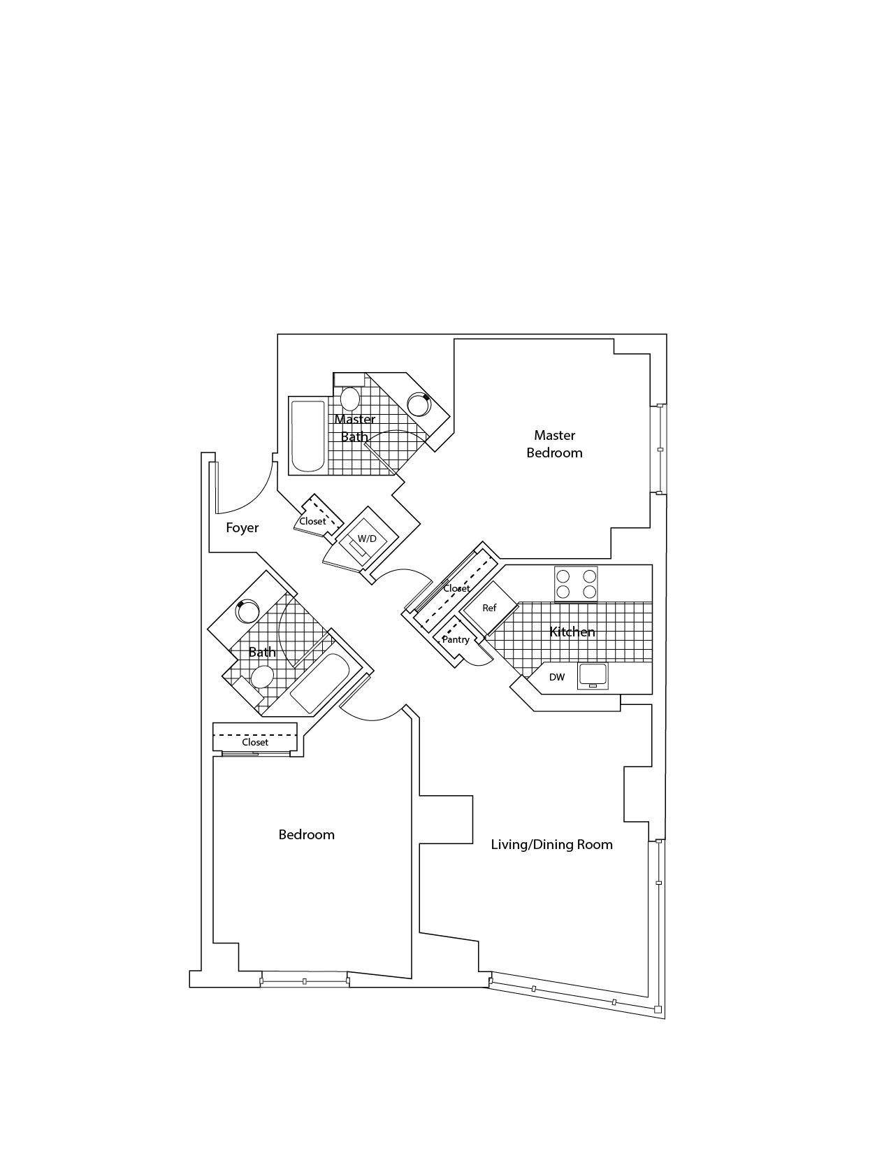 floorplan image of apartment G-0502