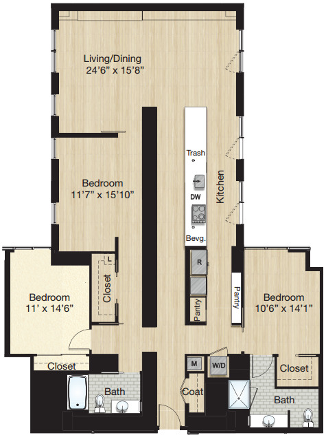 Apartment 1131 floorplan