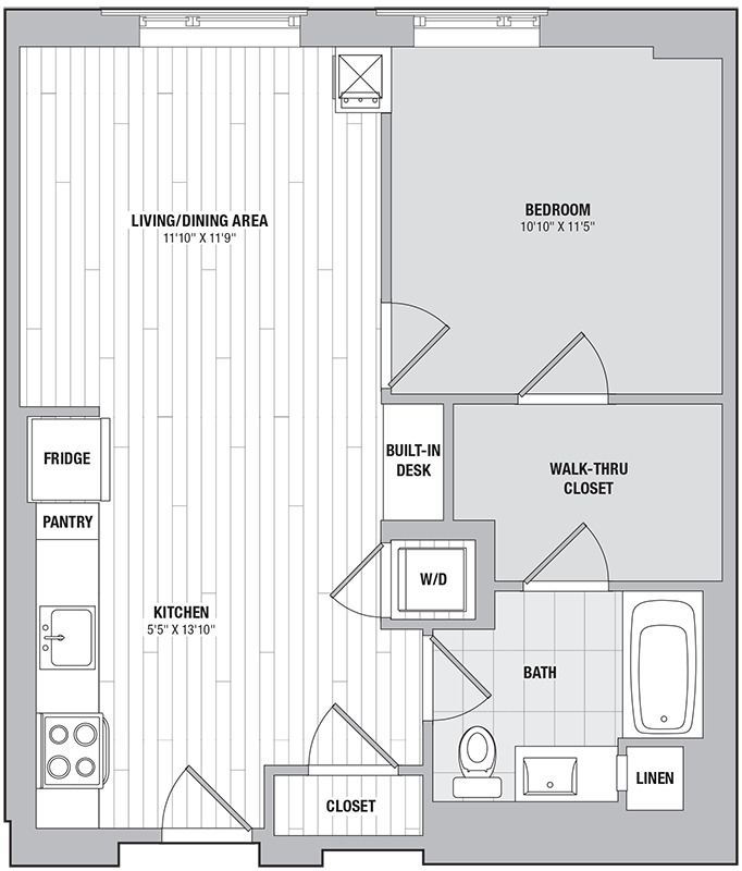 Apartment 0515 floorplan