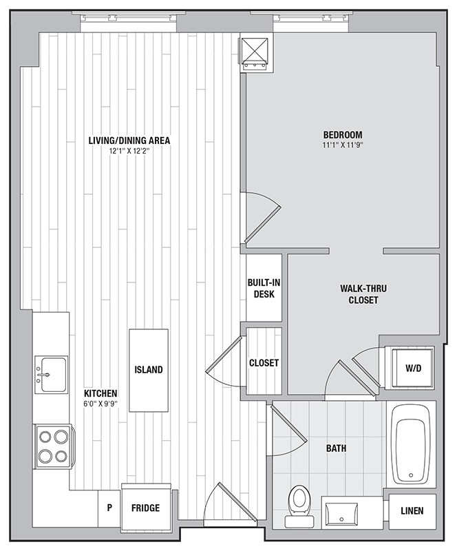 Apartment 0705 floorplan