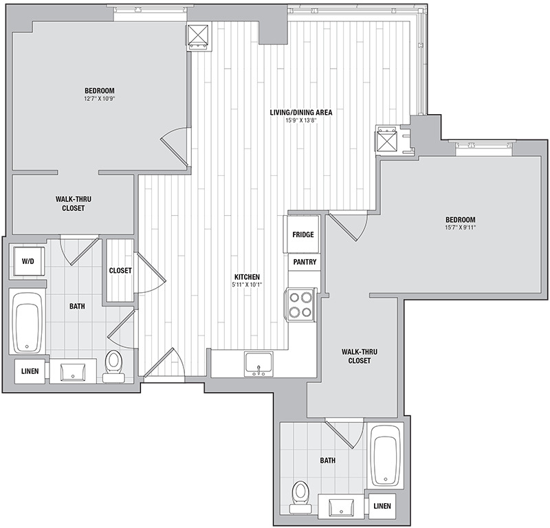 Apartment 1009 floorplan