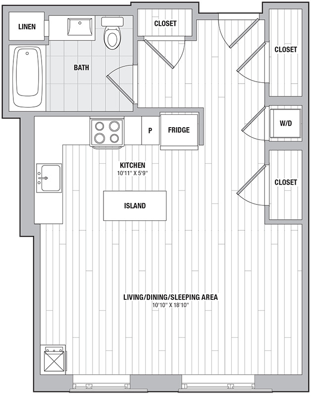 Apartment 0312 floorplan