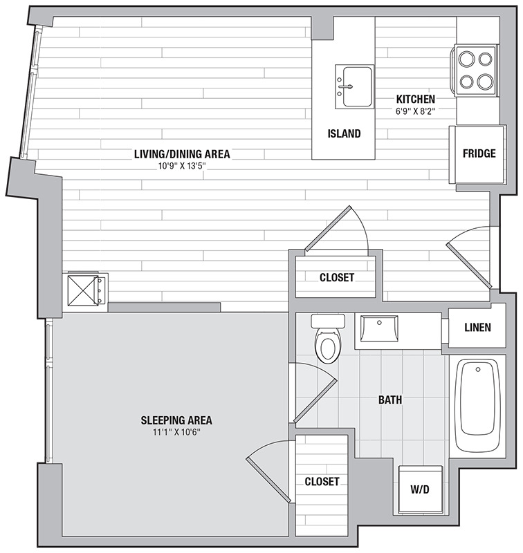 Apartment 2102 floorplan