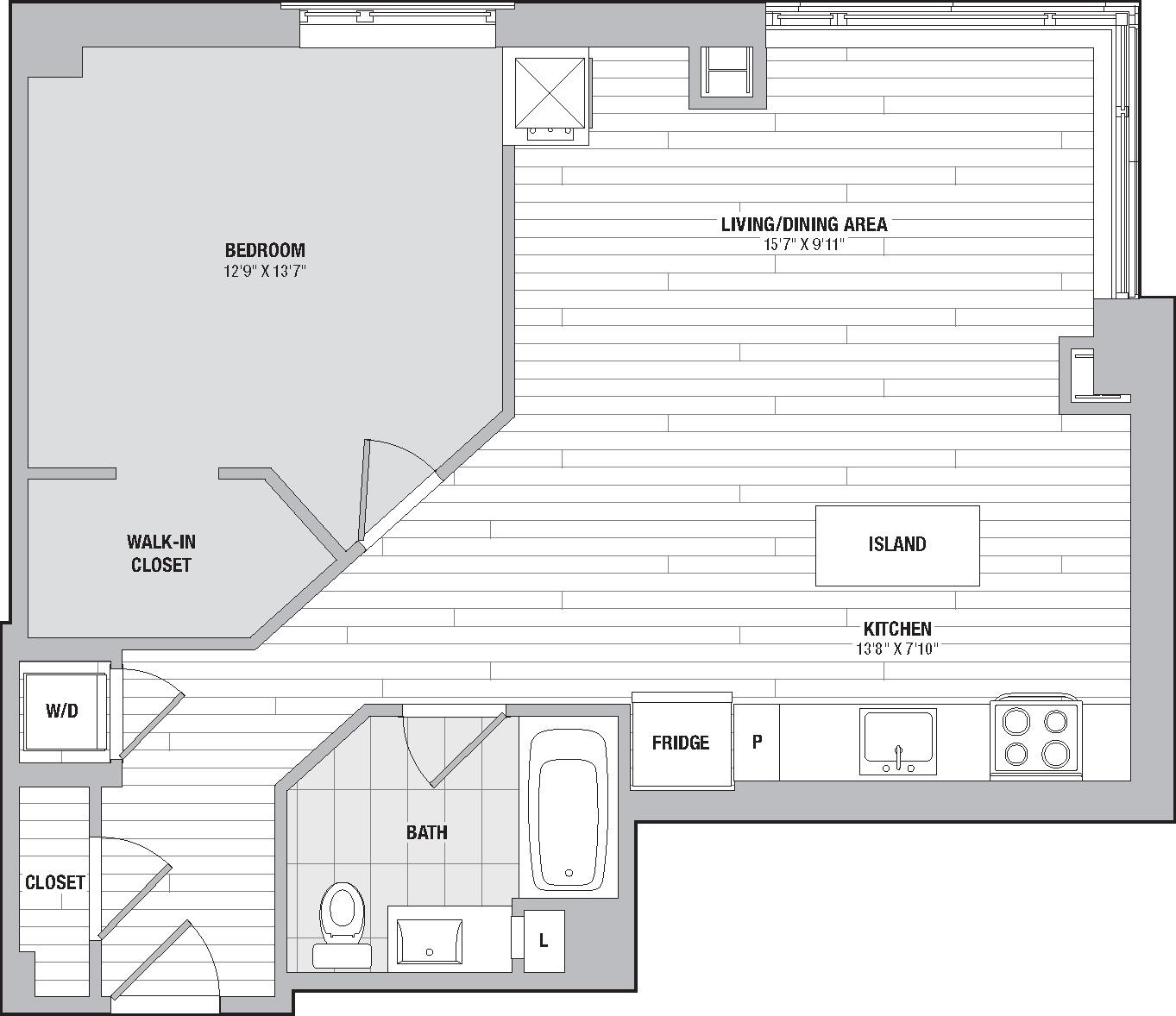 Apartment 1309 floorplan