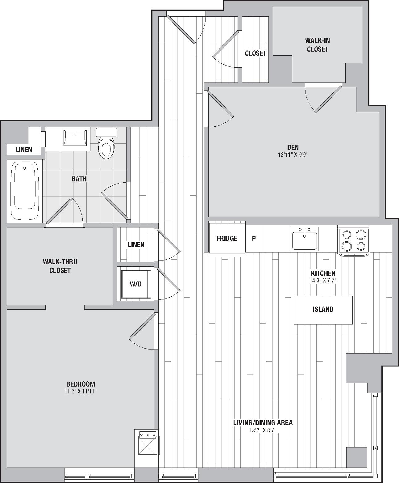 Apartment 0308 floorplan