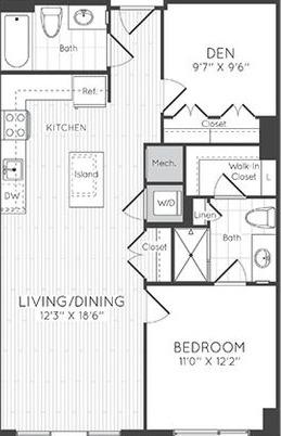 Apartment 0403 floorplan