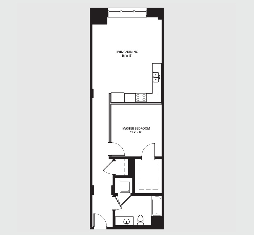 Apartment 0715 floorplan