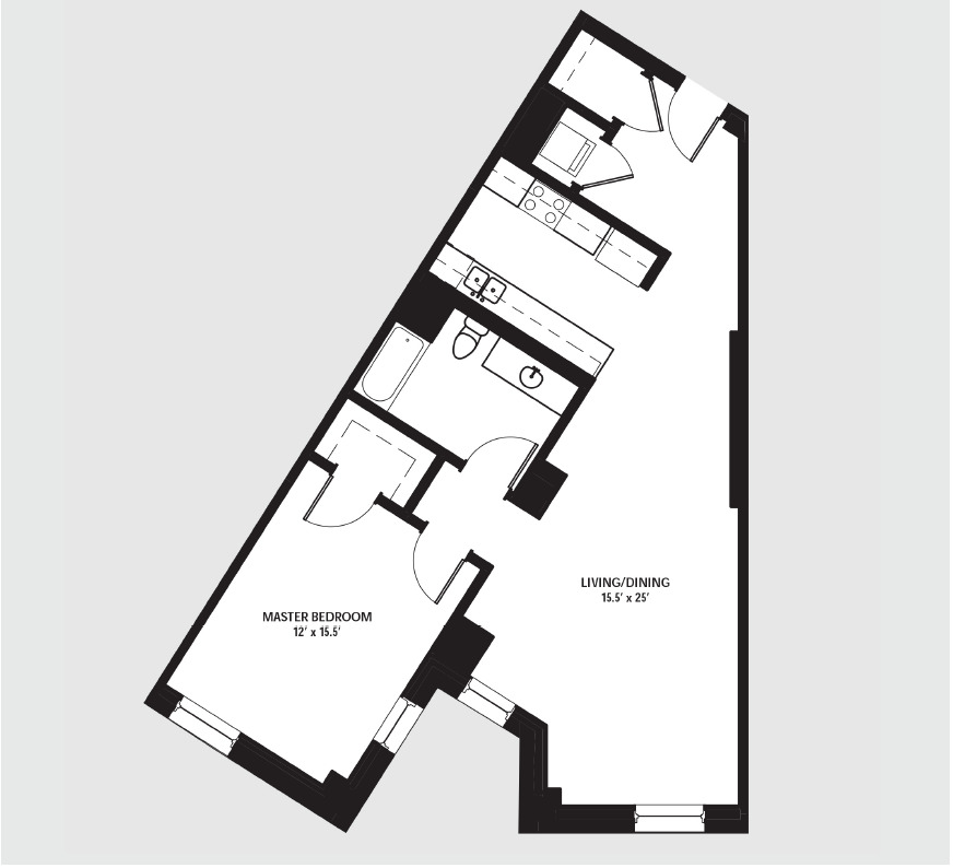 Apartment 1406 floorplan
