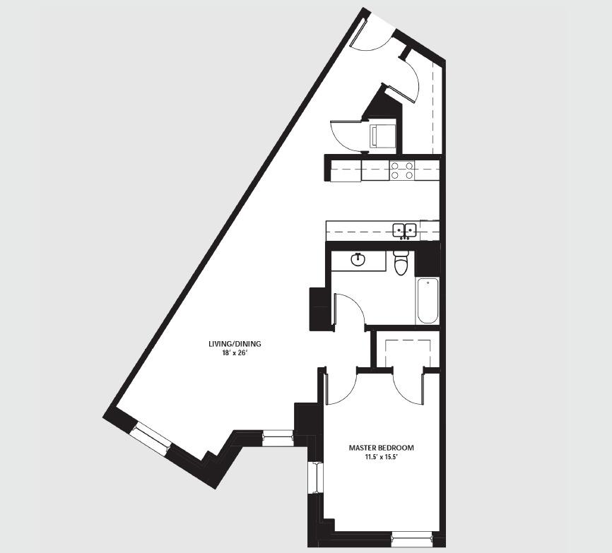 Apartment 1704 floorplan