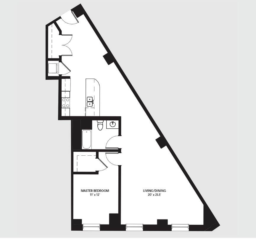 Apartment 0604 floorplan
