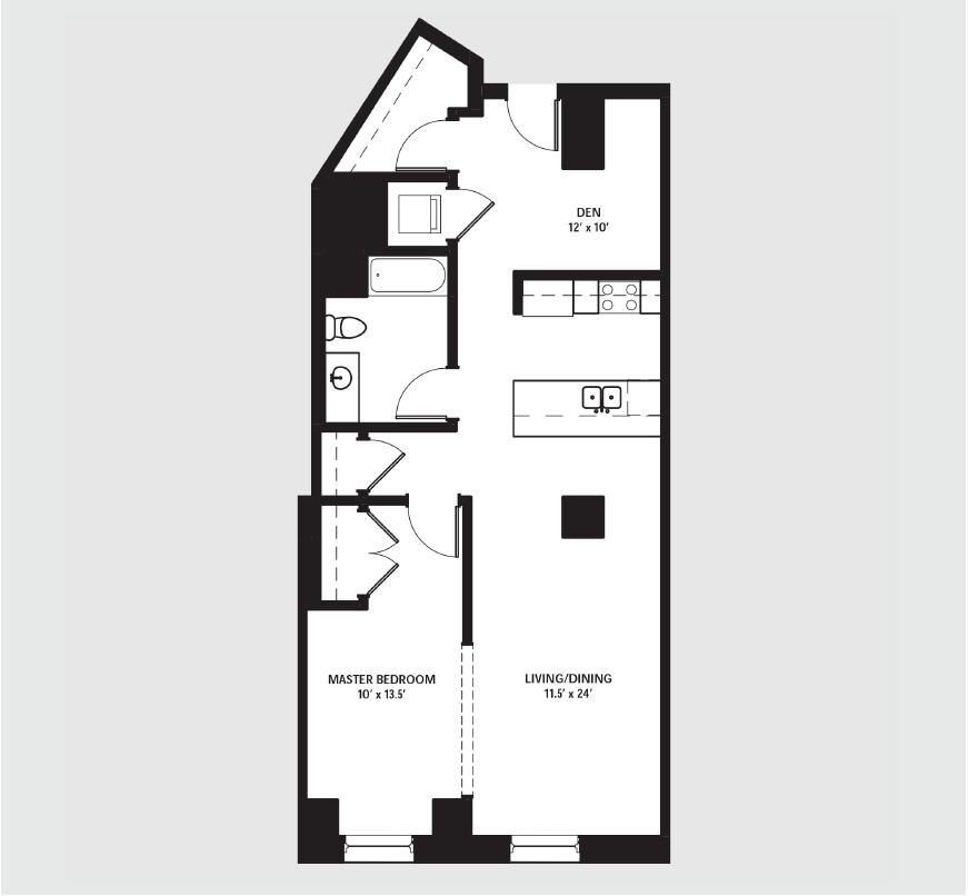Apartment 0607 floorplan