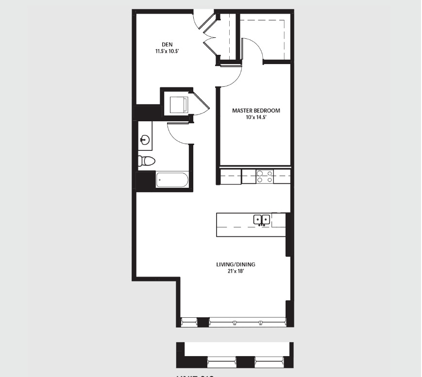 Apartment 0610 floorplan
