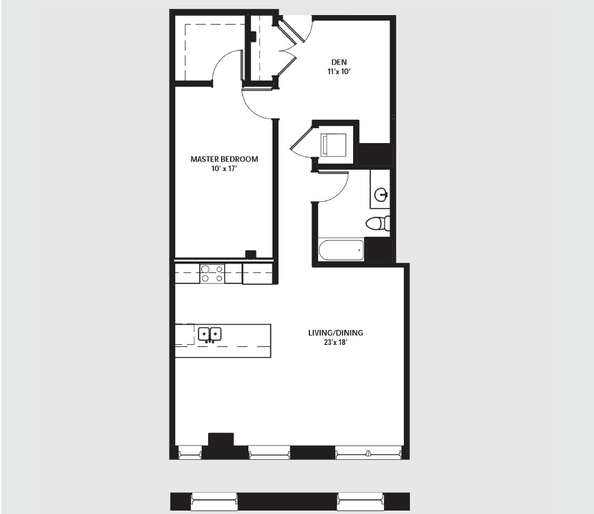 Apartment 0511 floorplan