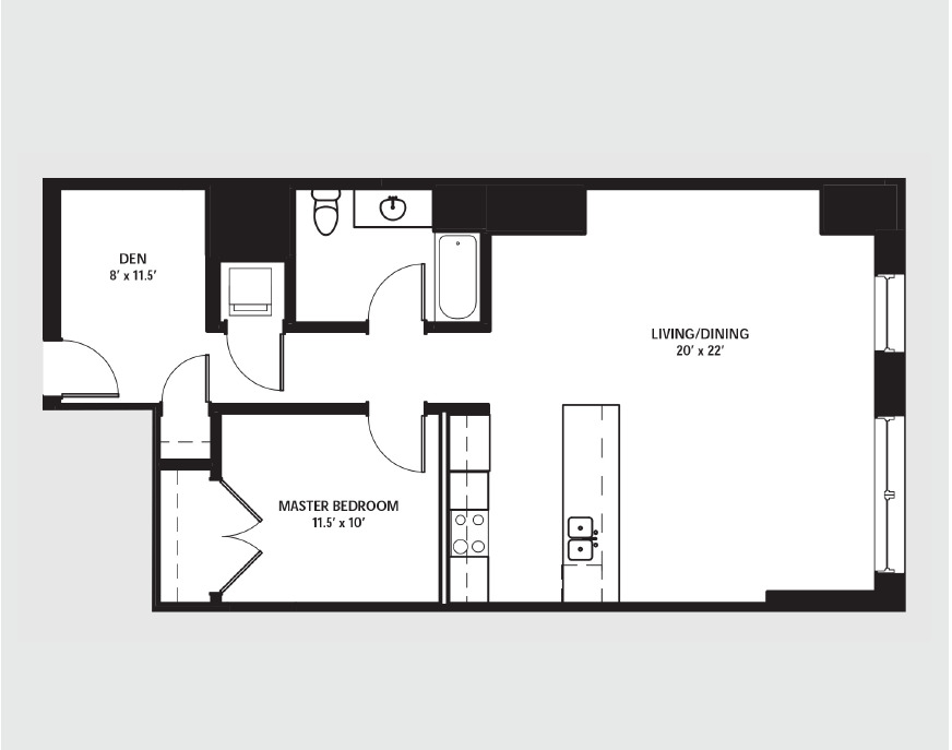 Apartment 1409 floorplan