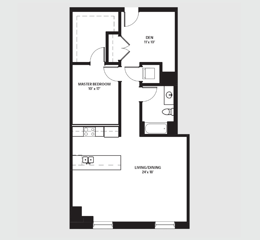 Apartment 0611 floorplan