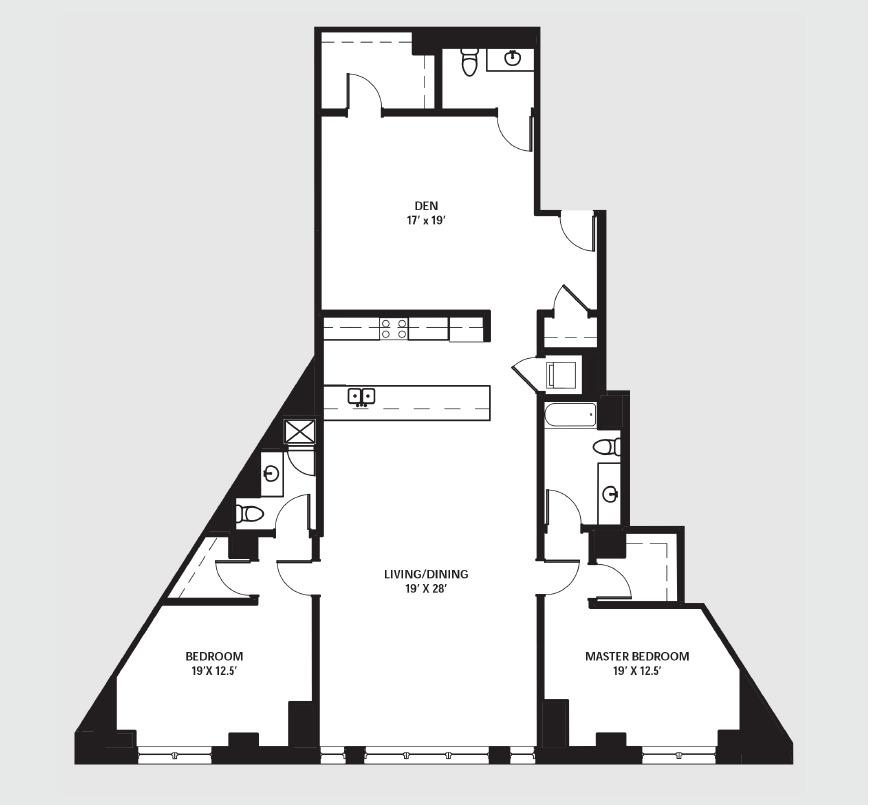 Apartment 0305 floorplan