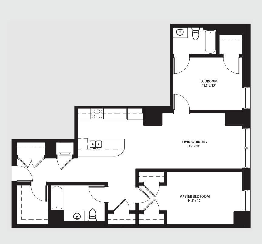 Apartment 1210 floorplan