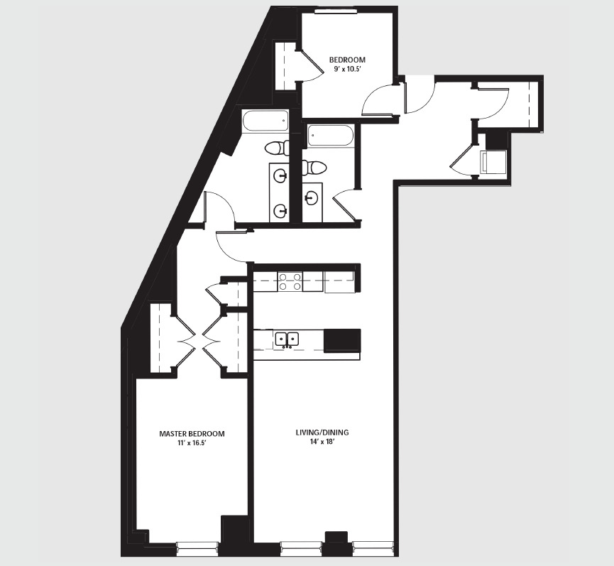 Apartment 1901 floorplan