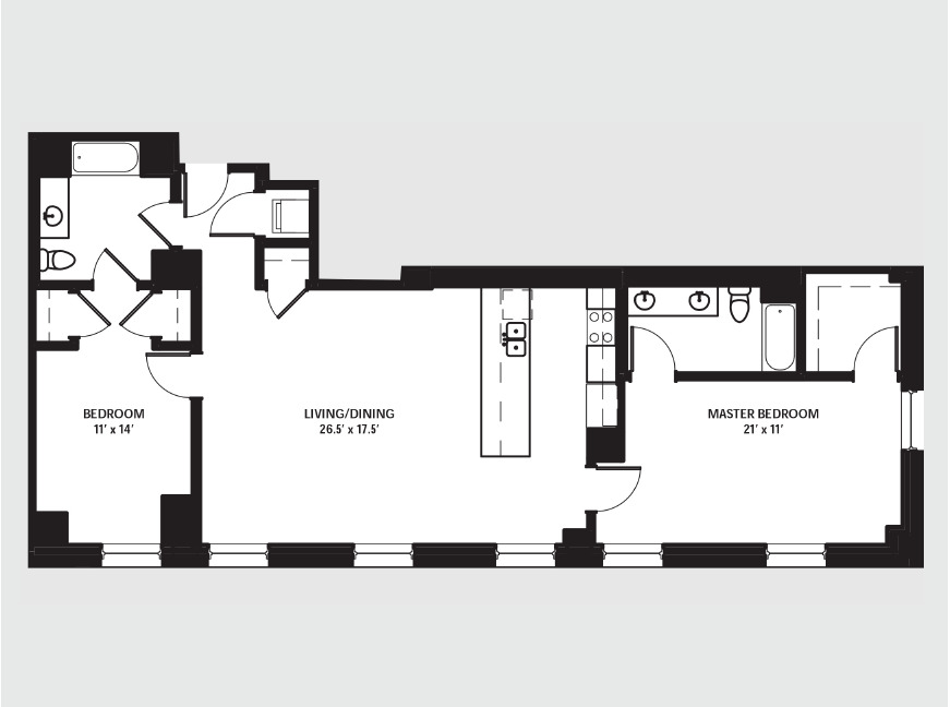 Apartment 1707 floorplan