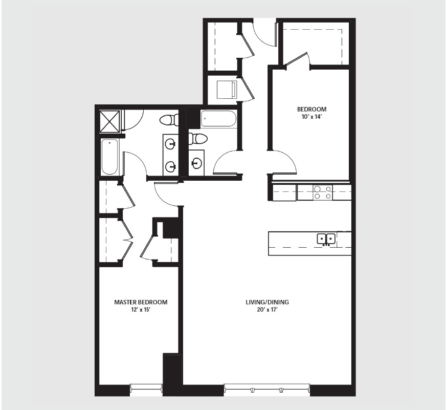Apartment 0402 floorplan