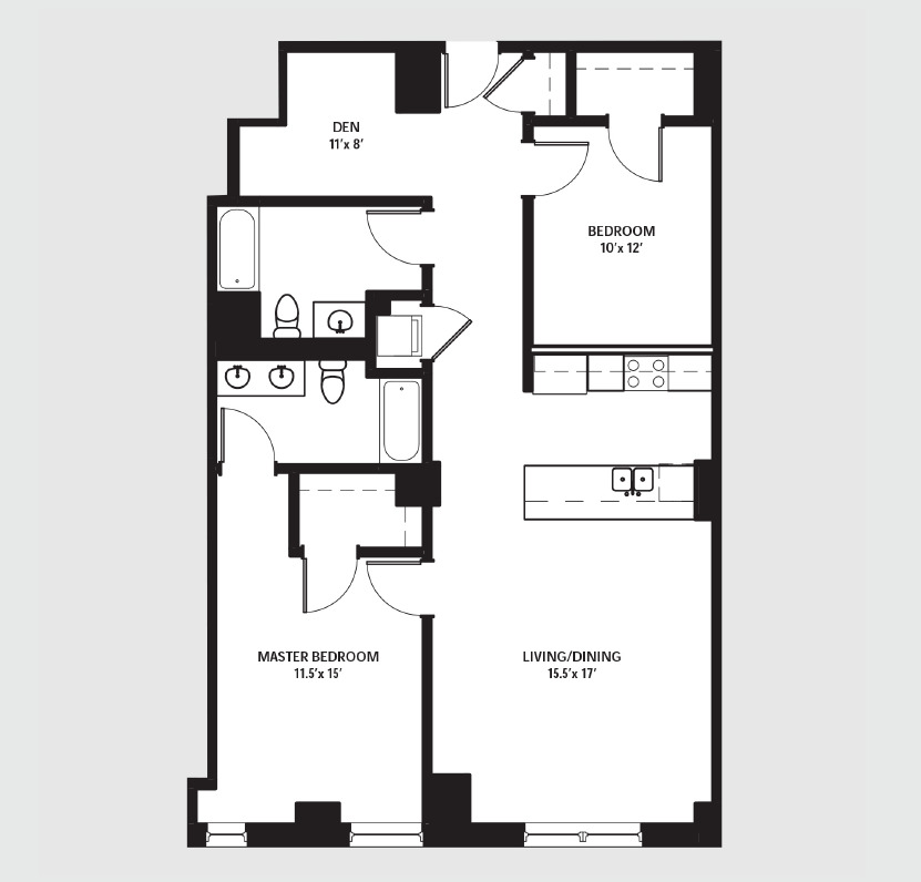 Apartment 0208 floorplan