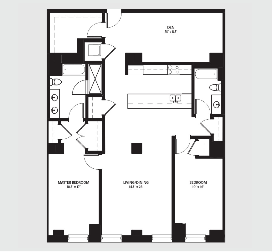 Apartment 1605 floorplan