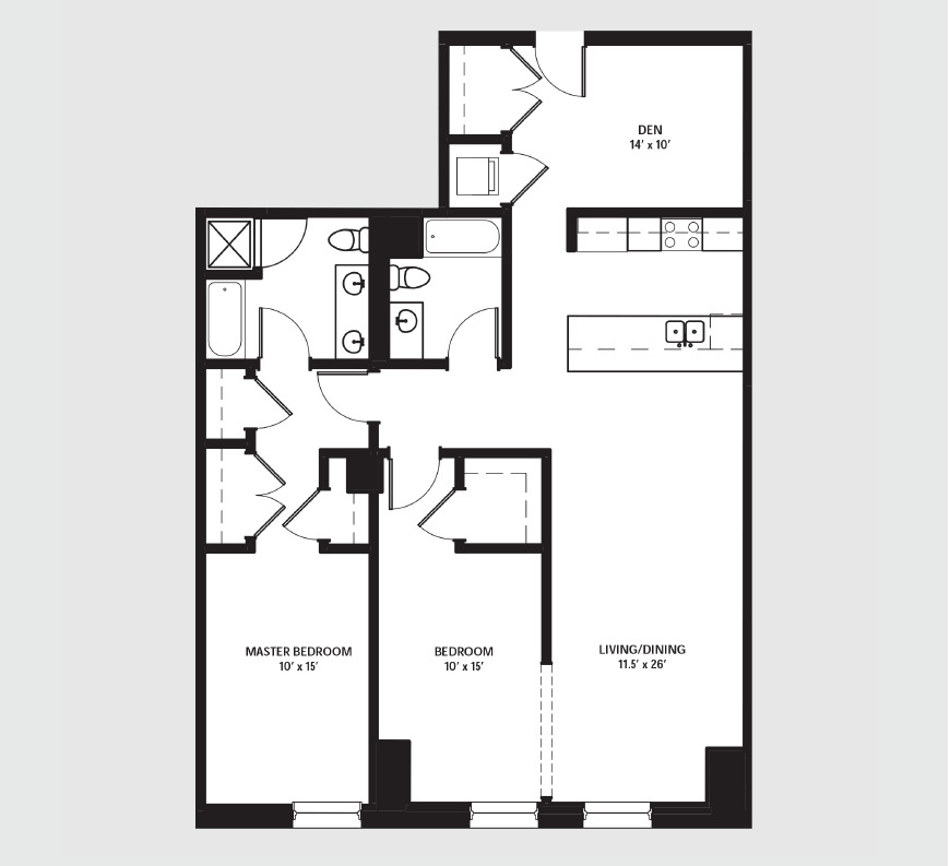 Apartment 1102 floorplan