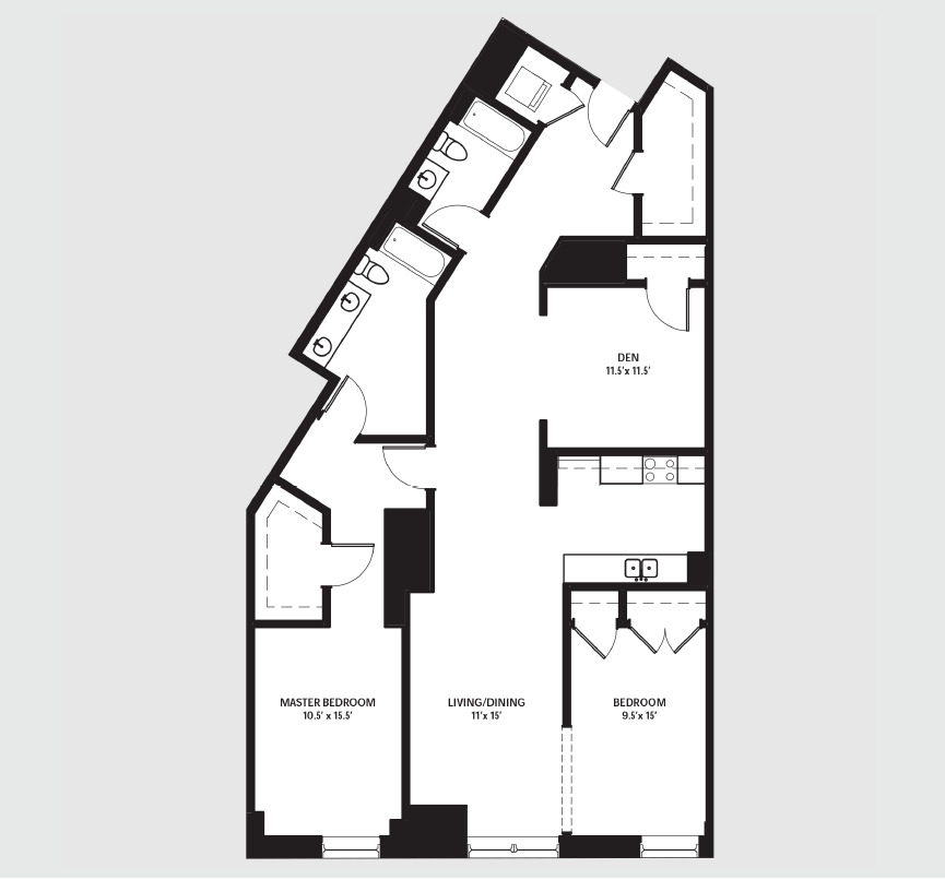 Apartment 0206 floorplan