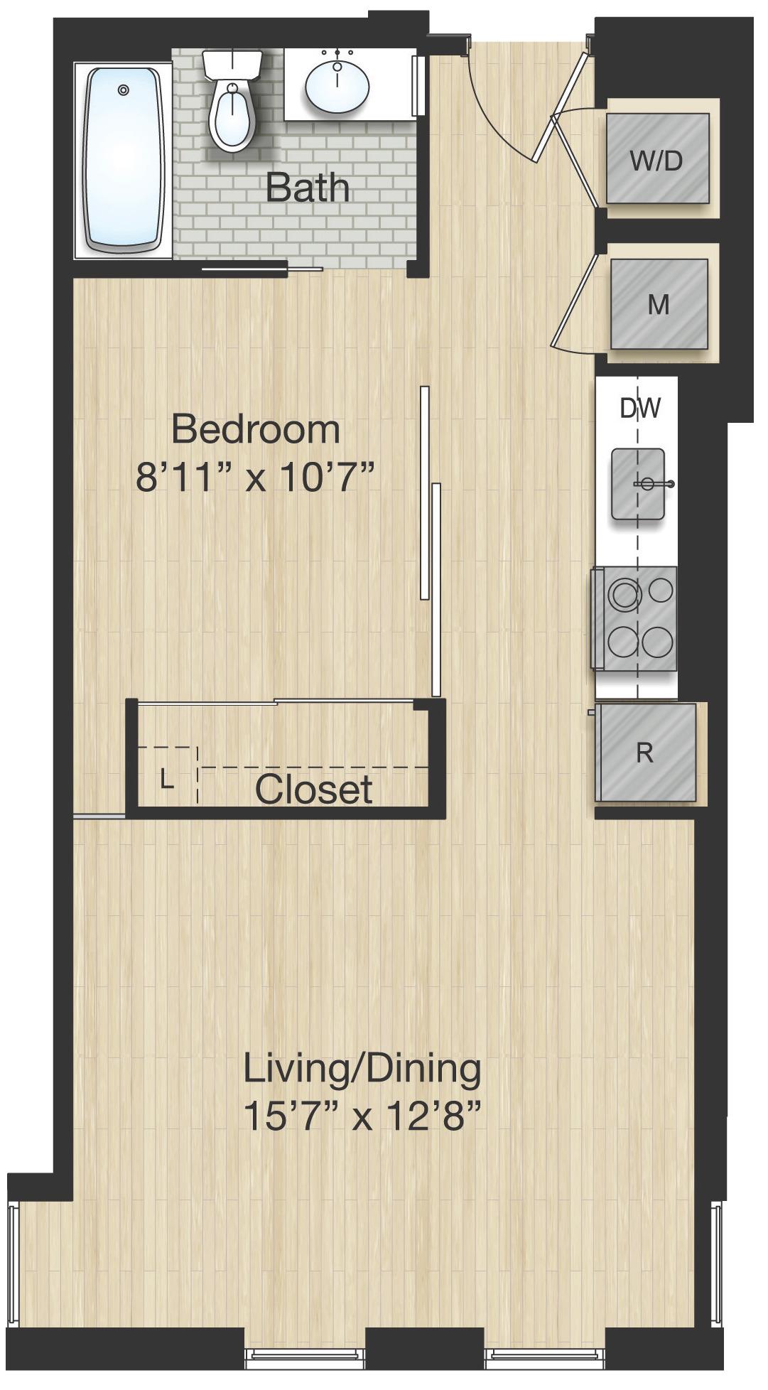 Apartment 1173 floorplan