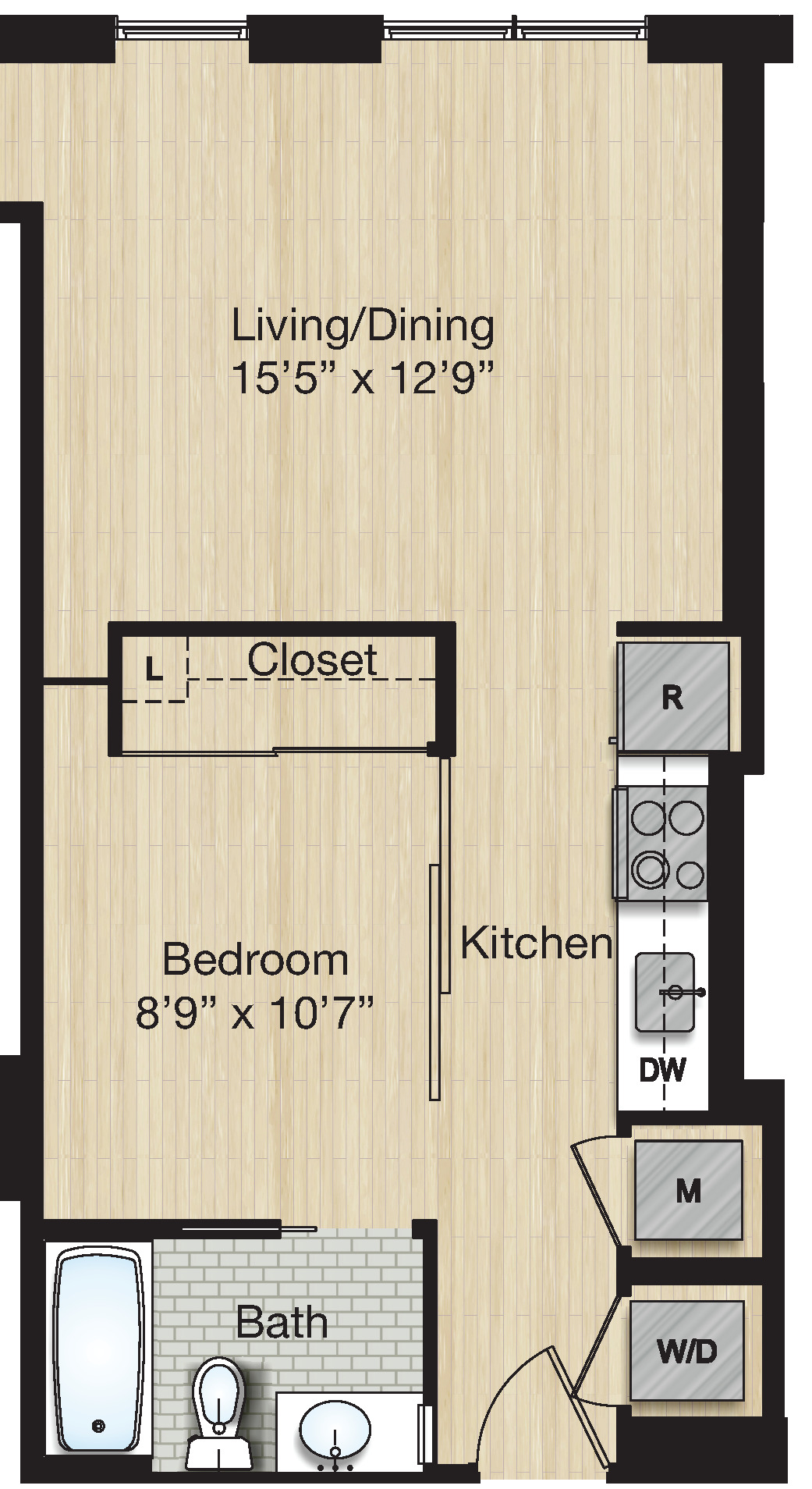 Apartment 0615 floorplan